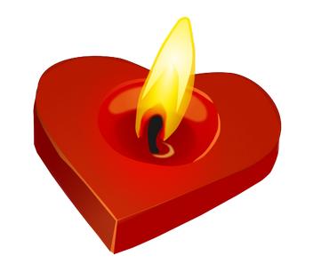romantické sms z lásky pro holku, zamilovaná esemeska holce, Zamilované básničky holce, srdce, svícen