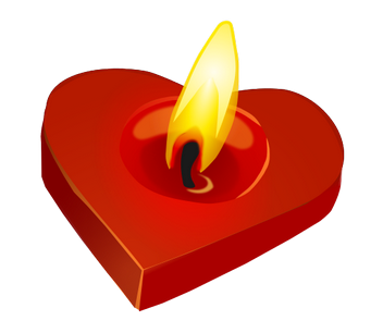 romantické sms z lásky klukoj, zamilovaný text, Romantické básničky klukovi, srdce, svícen