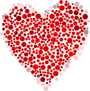 romantické sms z lásky na dobré ráno miláčkovi, sms na dobré ráno a dobrou noc, Zamilované básničky na dobré ráno, tečkované srdce